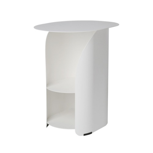 [bmotto] 커브사이드테이블 Curve side table_white