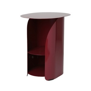 [bmotto] 커브사이드테이블 Curve side table_burgundy